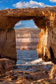 Azure window, Gozo island, Malta — Stock Photo