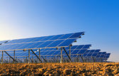 Solar panels for power production — Stock Photo