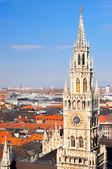 мюнхен центр города с башни ратуши новый город — Стоковое фото
