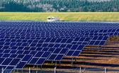 Solar power plant under construction in Germany — Stock Photo