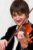 优雅的小提琴手 — 图库照片