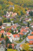 Bird view over Wernigerode town — Stock Photo