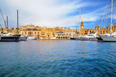 Marina in Vittoriosa, Valetta Bay, Malta — Stock Photo