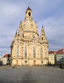 Dresden, Frauenkirche after the rain — Stock Photo