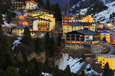 Sci resort obertauern in austria la sera — Foto Stock