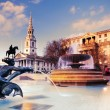 Fountain on Trafalgar Square, toned image — Stock Photo #36315449
