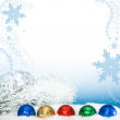 Christmas background with chocolate balls — Stock Photo