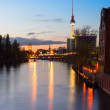 Belin, river Spree in the evening — Stock Photo
