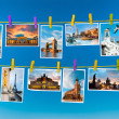 European landmarks, collage — Foto Stock