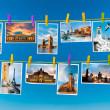 European landmarks, collage — Stockfoto