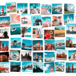 Travel in Europe collage — Stockfoto