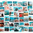 viaggiare in collage di Europa — Foto Stock