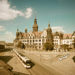 Hofkirche in Dresden, retro effect — Stock Photo