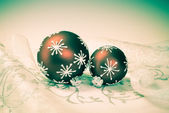 Xmas decorations with retro effect — Stock Photo
