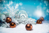 Christmas decorations, retro effect — Stock Photo