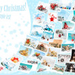 Christmas pictures collage — Stock Photo