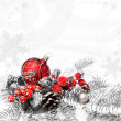 Red Christmas decorations — Stock Photo #37202531