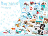 Christmas pictures collage — Zdjęcie stockowe