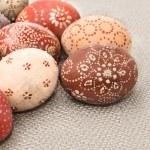 Ornate Easter eggs, corner composition — Stockfoto