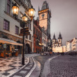 Old Market Square in Prague in the evening — Stock Photo #41453953