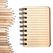 Stock Photo: Stationary made from sustainable wood