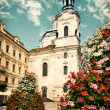 Stock Photo: Aged picture of St. Nicolas Church in Prague