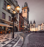 Old Market Square in Prague in the evening — Stock Photo