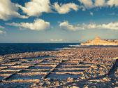 Salinas on Goso island, Malta — Stockfoto
