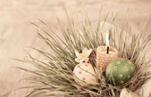 Easter decorations, toned image — Stock Photo
