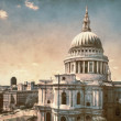 St. Paul's Cathedral in London, retro look — Stock Photo