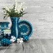 Stock Photo: Easter decorations, text space