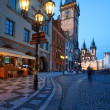Old City Hall on the Town Square in Prague — Stock Photo