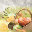 Stock Photo: Easter composition, text space