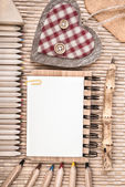 Sustainable wood stationary — Stock Photo