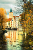 Historical part of Erfurt, Thuringia, Germany — Stock Photo