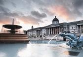 Trafalgar Square in the evening — Stock Photo