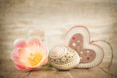 Easter decorations, retro look — Stock Photo