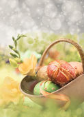 Easter composition, text space  — Stock Photo