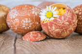 Ornate Easter eggs — Stock Photo