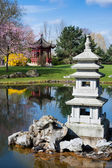 Stone pagoda in Chinese garden — Stock Photo