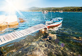 Fishermen boat — Stock Photo