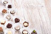 Schokolade pralinen — Stockfoto