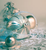 Christmas decorations, toned image — Stock Photo