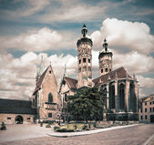 Naumburg Cathedral, tinted image — Stock Photo