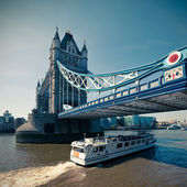 Tinted picture of Tower Bridge in London — Stock Photo