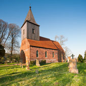 Historical German church in spring — Foto Stock