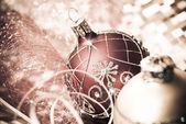 Christmas decorations, tinted image — Stock Photo
