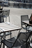 Outdoor restaurant, text space — Stock Photo