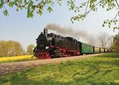 Historical train on island Rugen — Foto de Stock