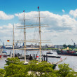 Ships on Elbe River — Stock Photo #47342827